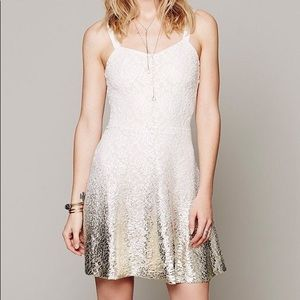Free People Ombré Foil Lace Dress